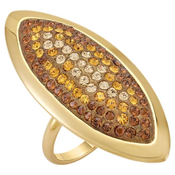 Evil Eye gyűrű, nagy, barna színű, aranyszínű bevonattal - Swarovski, 5515311