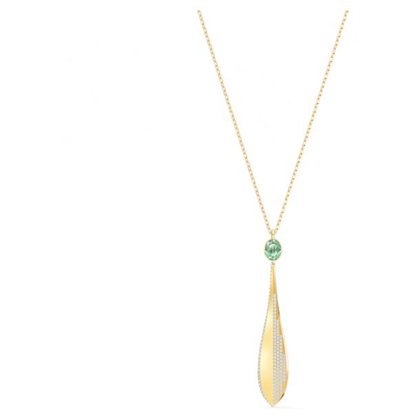 Wisiorek Stunning Olive, zielony, powłoka w odcieniu różowego złota - Swarovski, 5515463