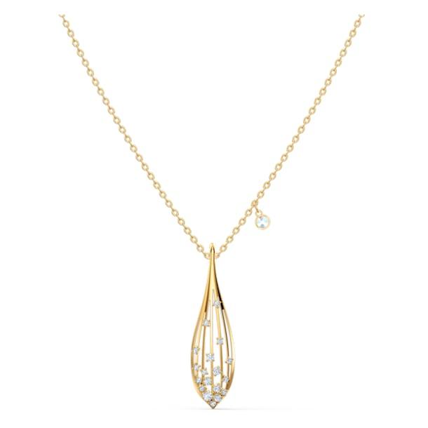 Přívěsek Stunning Olive, bílý, pozlacený - Swarovski, 5515466