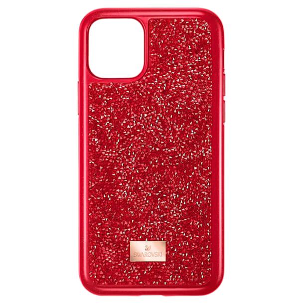 Glam Rock okostelefon tok, iPhone® 11 Pro, piros - Swarovski, 5515625
