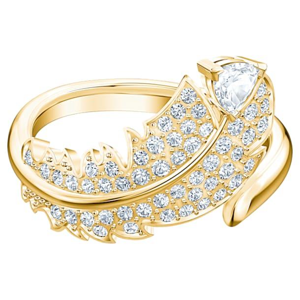 Nice Motif Ring, White, Gold-tone plated - Swarovski, 5515757