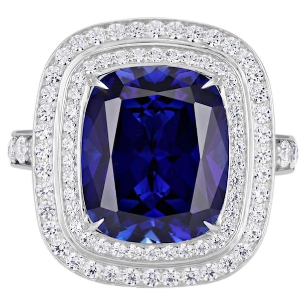 Ángel Double Halo Ring, Swarovski Created Sapphire, 18K White Gold, Size 55 - Swarovski, 5516296