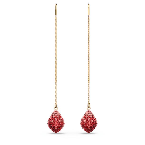 Fun Pierced Earrings, Red, Gold-tone plated - Swarovski, 5516585