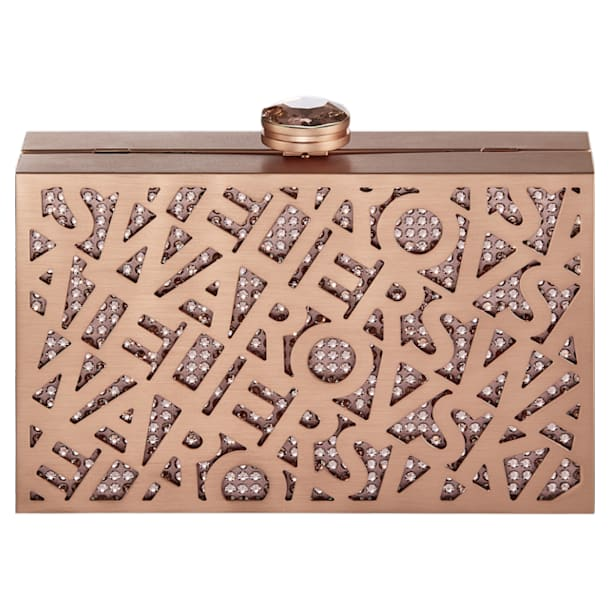 Logo Lace Bag, Rose-gold tone - Swarovski, 5517020