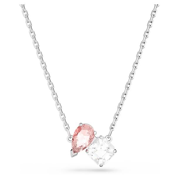 Attract Soul Necklace, Pink, Rhodium plated - Swarovski, 5517115