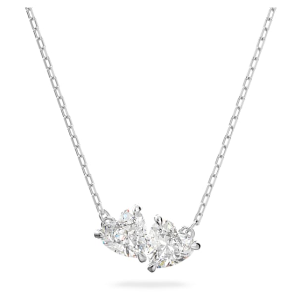 Attract Soul Necklace, White, Rhodium plated - Swarovski, 5517117