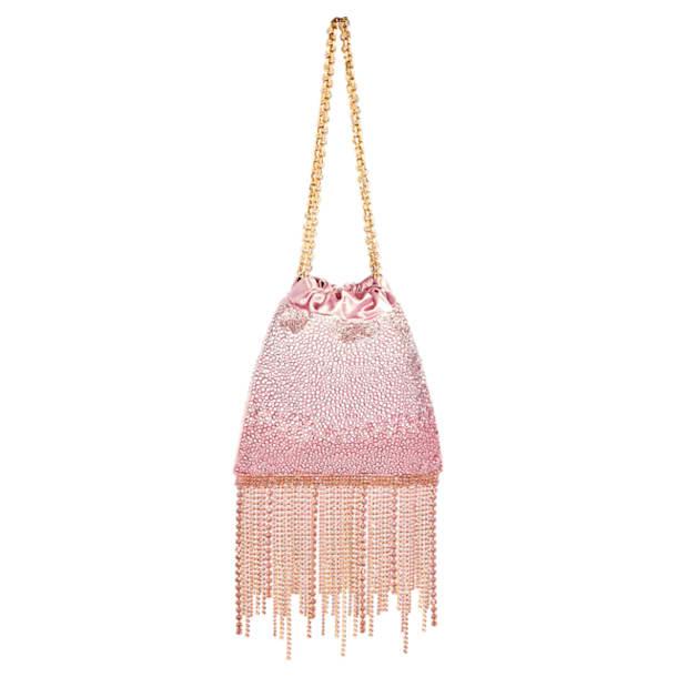Fringe Benefit Hotfix Bag, Pink - Swarovski, 5517615