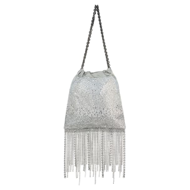 Fringe Benefit Hotfix Bag, Silver tone - Swarovski, 5517617