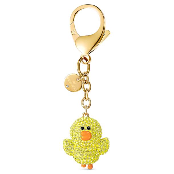 Line Friends Bag charm, Yellow, Gold-tone plated - Swarovski, 5517663