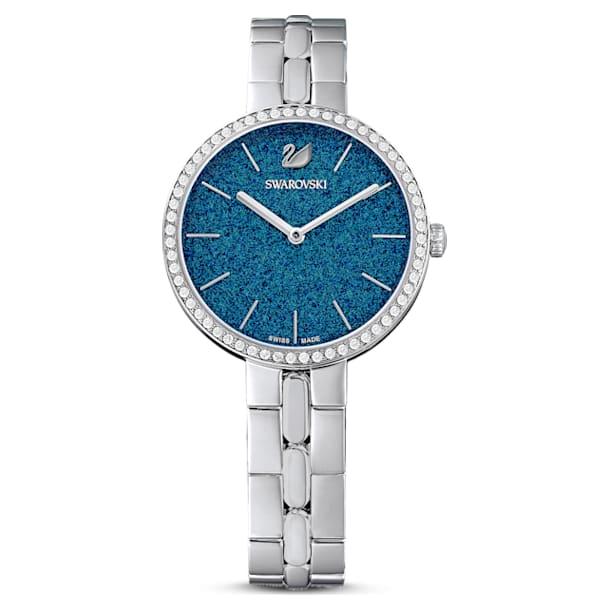 Cosmopolitan watch, Metal bracelet, Blue, Stainless steel - Swarovski, 5517790