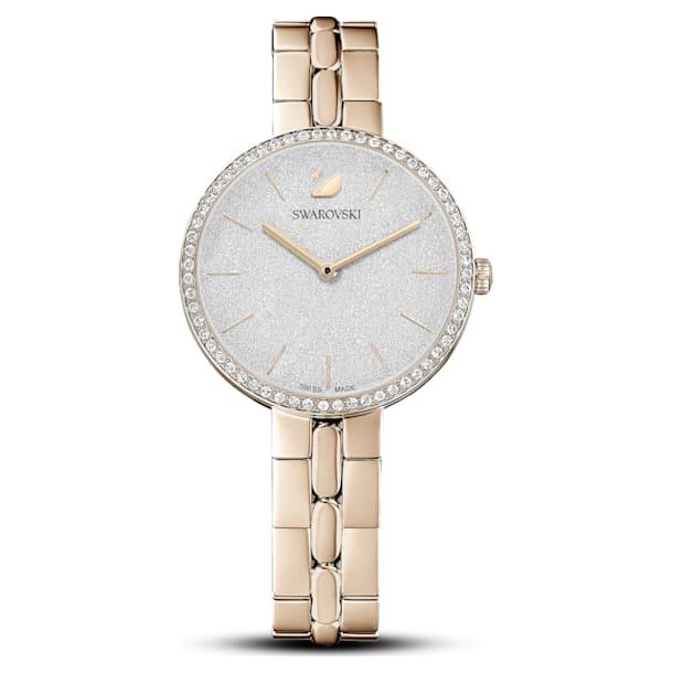 Cosmopolitan watch , Metal bracelet, Gold tone, Champagne-gold tone PVD - Swarovski, 5517794