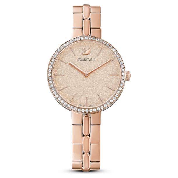 Cosmopolitan watch, Metal bracelet, Pink, Rose-gold tone PVD - Swarovski, 5517800