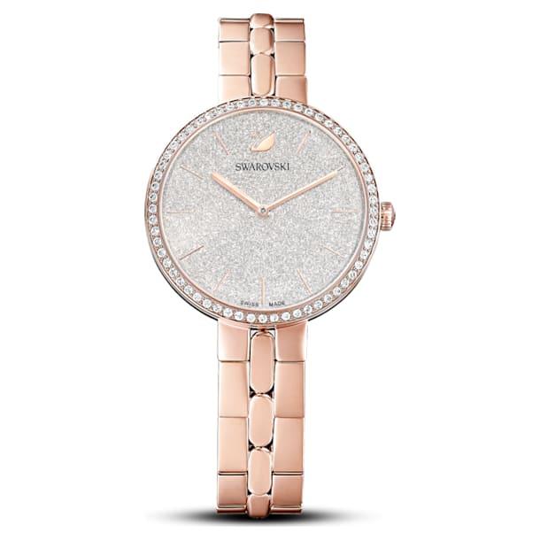 Cosmopolitan Часы, Металлический браслет, Покрытие розовым золотом, PVD-покрытие оттенка розового золота - Swarovski, 5517803
