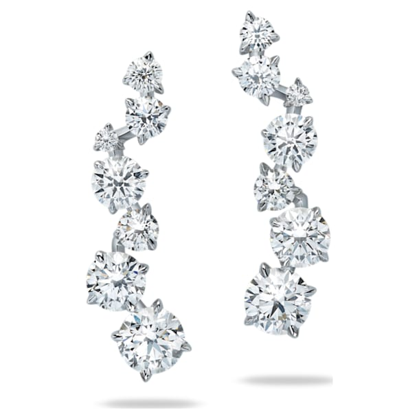 Signature Ear Cuffs, Swarovski Created Diamonds, 18K White Gold - Swarovski, 5517822