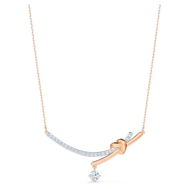 Κολιέ Lifelong Heart, λευκό, φινίρισμα μικτού μετάλλου - Swarovski, 5517951