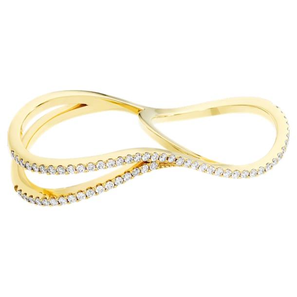 Arc-en-ciel Double Ring, 18K Yellow Gold, Size 48 - Swarovski, 5518005