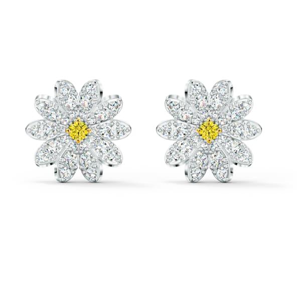 Eternal Flower Серьги, Желтый Кристалл, Отделка из разных металлов - Swarovski, 5518145