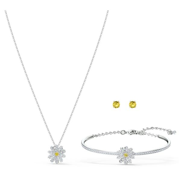 Parure Eternal Flower, Fleur, Jaune, Finition mix de métal - Swarovski, 5518146