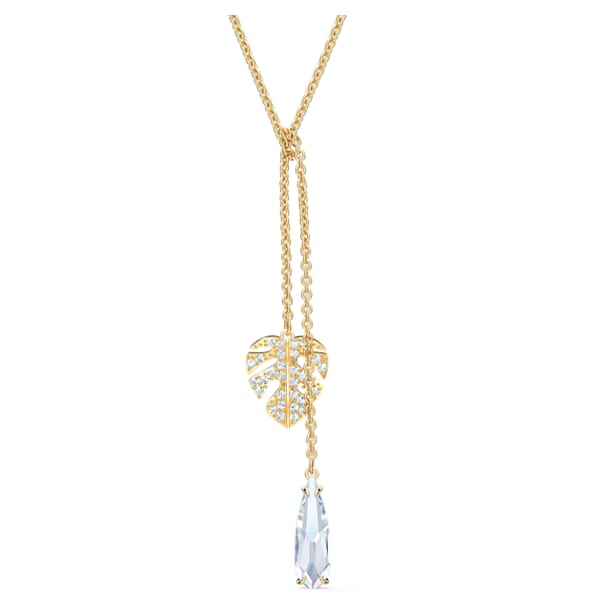 Tropical Necklace, White, Gold-tone plated - Swarovski, 5519249