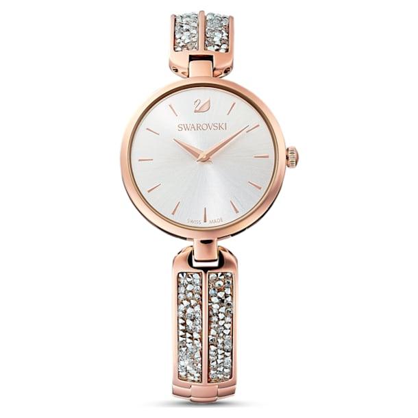 Dream Rock 手錶, 金屬手鏈, 銀色, 玫瑰金色調PVD - Swarovski, 5519306