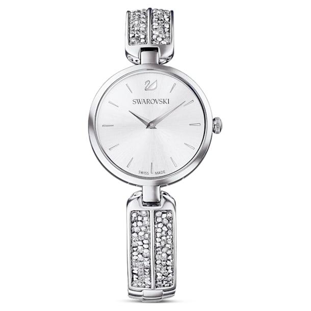 Dream Rock watch, Metal bracelet, Silver tone, Stainless steel - Swarovski, 5519309