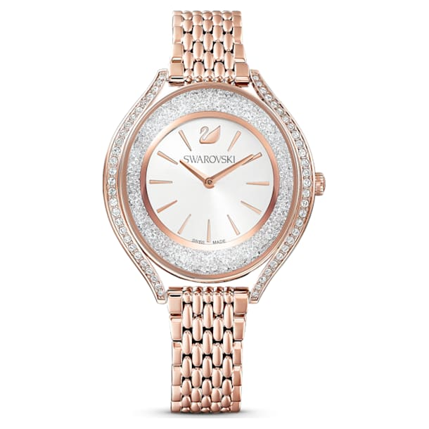 스와로브스키 Swarovski Crystalline Aura watch, Metal bracelet, Rose gold tone, Rose-gold tone PVD