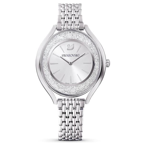 Relógio Crystalline Aura, pulseira em metal, prateado, aço inoxidável - Swarovski, 5519462