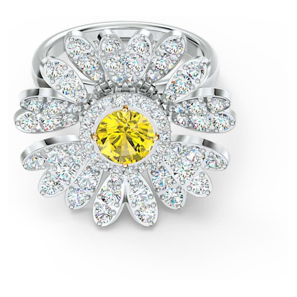Eternal Flower ring, Flower, Yellow, Mixed metal finish - Swarovski, 5520366