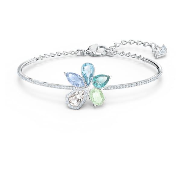Bracelet-jonc Sunny, multicolore clair, métal rhodié - Swarovski, 5520488