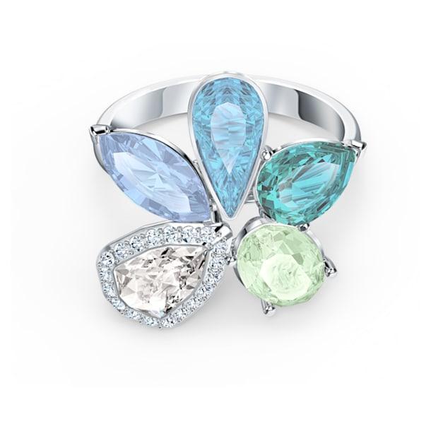 Sunny-ring, Licht meerkleurig, Rodium-verguld - Swarovski, 5520491
