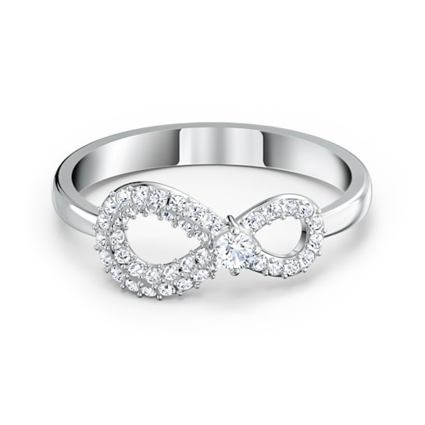 Δαχτυλίδι Swarovski Infinity, Άπειρο, Λευκό, Επιμετάλλωση ροδίου - Swarovski, 5520580