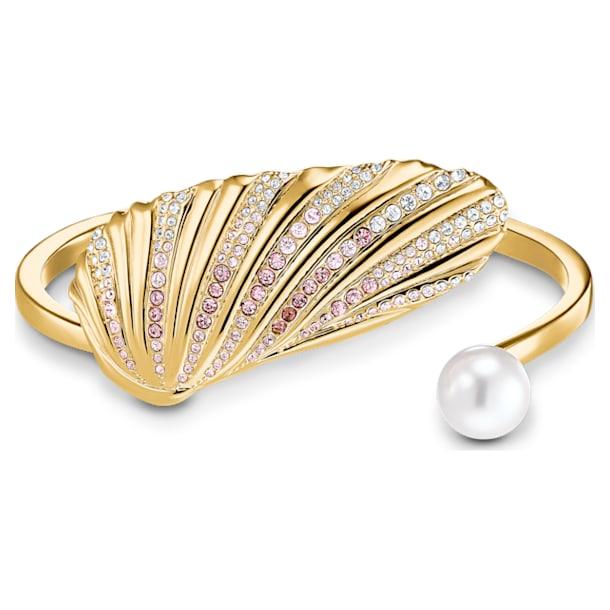 Manžetový náramek Shell, Mušle, Vícebarevná, Pokoveno ve zlatém odstínu - Swarovski, 5520665