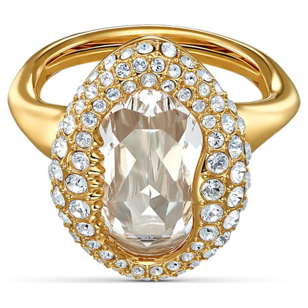 Shell ring, Schelp, Wit, Goudkleurige toplaag - Swarovski, 5520666