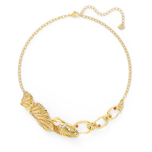 Shell necklace, Shell, Multicolored, Gold-tone plated - Swarovski, 5520667