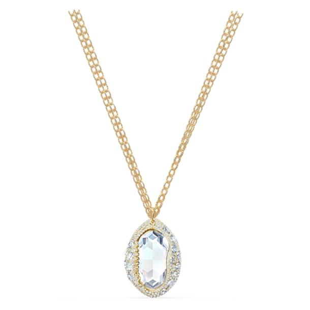 Shell Pendant, White, Gold-tone plated - Swarovski, 5520668