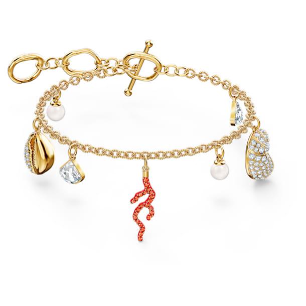 Shell Coral Armband, Muschel, Rot, Goldlegierung - Swarovski, 5520673