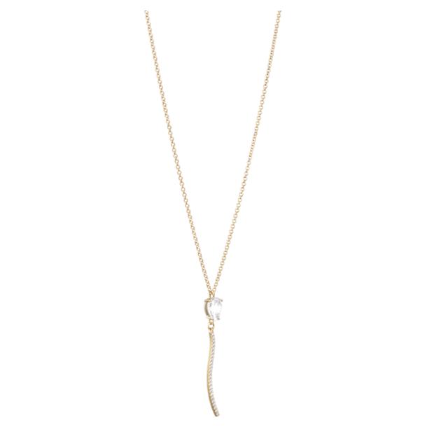 Arc-en-ciel Pendant Necklace, Swarovski Genuine Topaz & Swarovski Created Diamonds, 18K Yellow Gold - Swarovski, 5521026