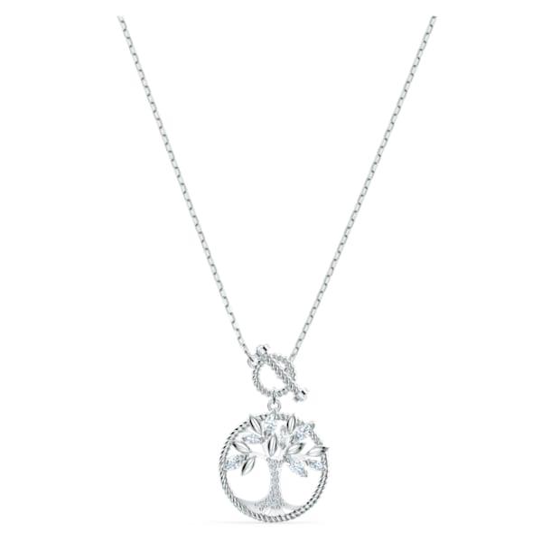 Swarovski Symbolic Tree of Life Necklace, White, Rhodium plated - Swarovski, 5521463