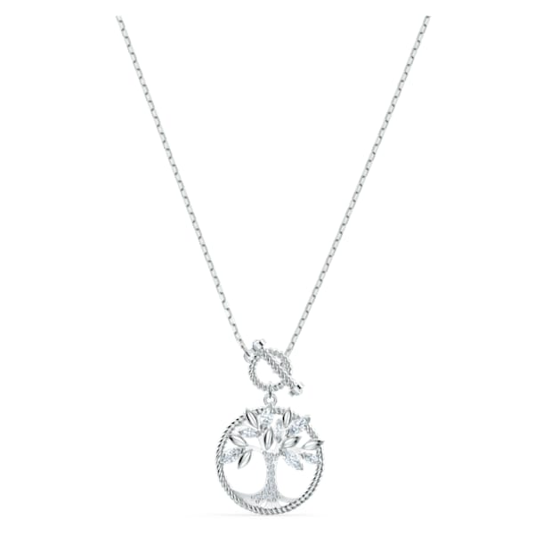 Naszyjnik z symbolem drzewa życia z kolekcji Swarovski Symbolic, biały, powlekany rodem - Swarovski, 5521463