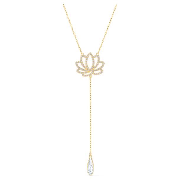 Colar Swarovski Symbolic Lotus, branco, banhado a dourado - Swarovski, 5521468