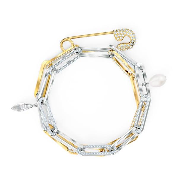So Cool Chain Bracelet, White, Mixed metal finish - Swarovski, 5521686