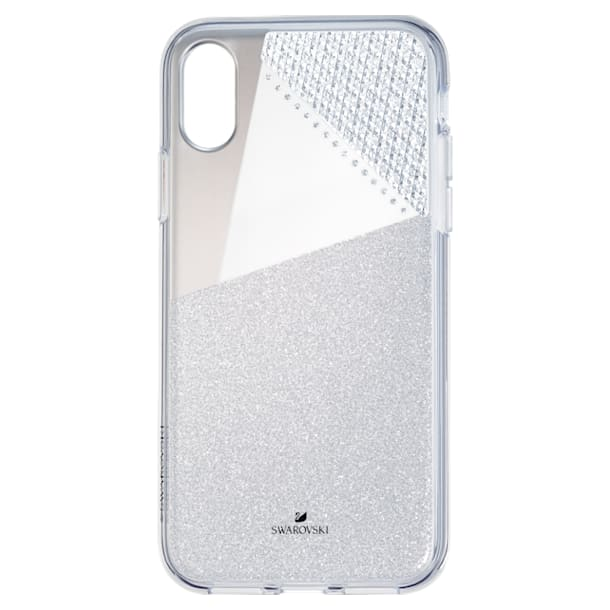 Subtle Smartphone Case with Bumper, iPhone® X/XS, Silver tone - Swarovski, 5522059