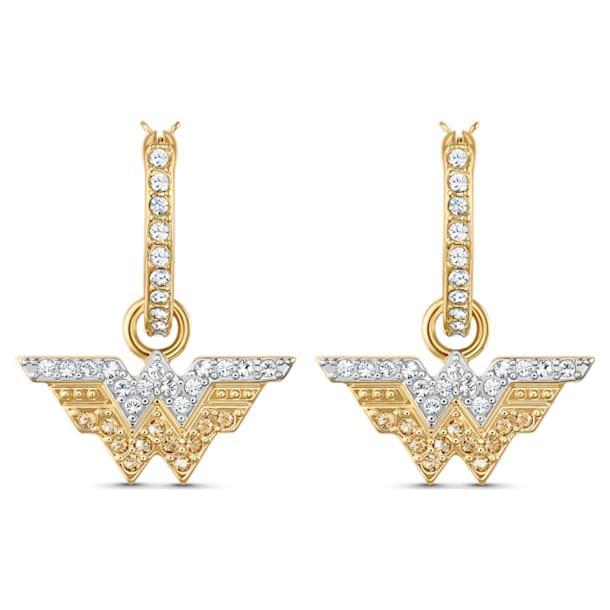 Fit Wonder Woman 大圈耳環, 翼, 金色, 多種金屬潤飾 - Swarovski, 5522301