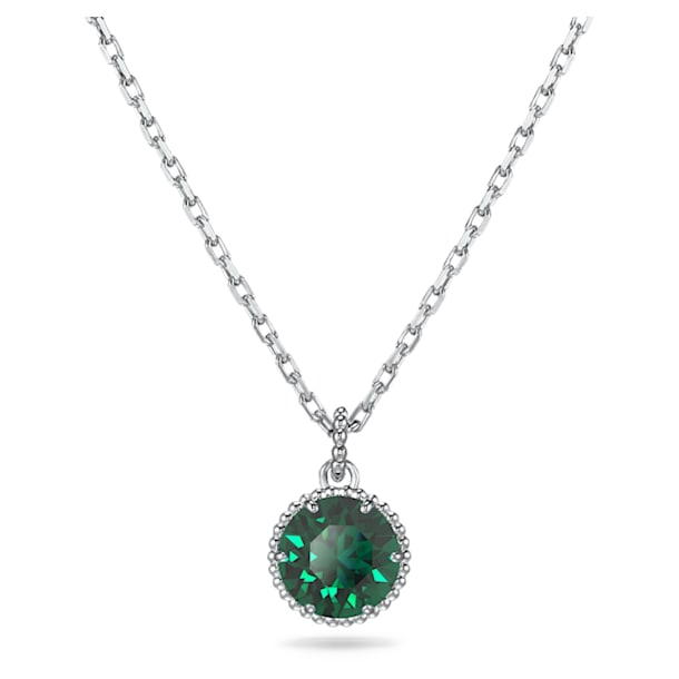 Birthstone Pendant, May, Green, Rhodium plated - Swarovski, 5522776
