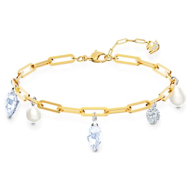 So Cool Charm 手链, 白色, 多种金属润饰 - Swarovski, 5522861