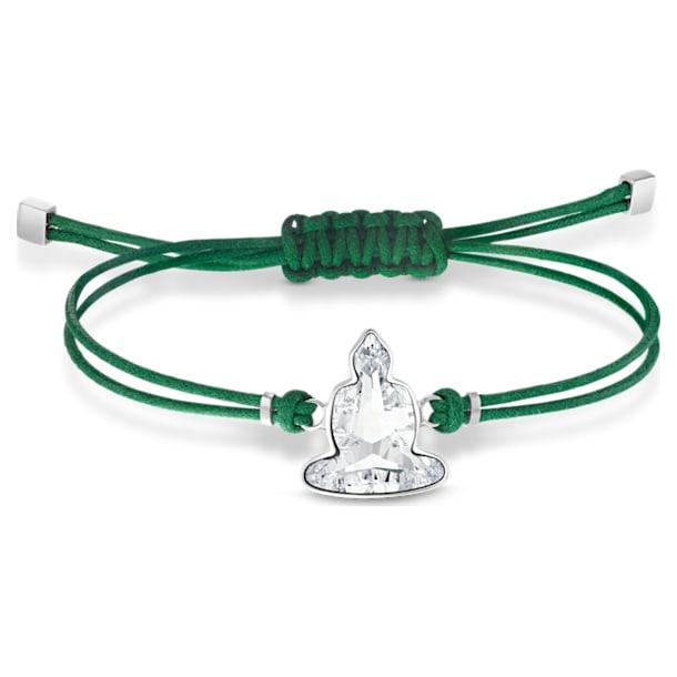 Swarovski Power Collection Buddha bracelet, Buddha, Medium, Green, Stainless steel - Swarovski, 5523173