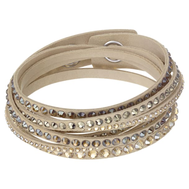Slake Deluxe armband , Beige, Goudkleurige toplaag - Swarovski, 5523636