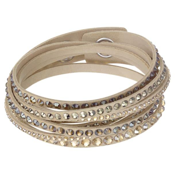 Slake Deluxe armband , Braun, Goudkleurige toplaag - Swarovski, 5523636