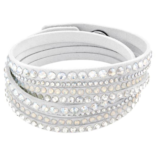 Slake Deluxe armband , Wit - Swarovski, 5524010