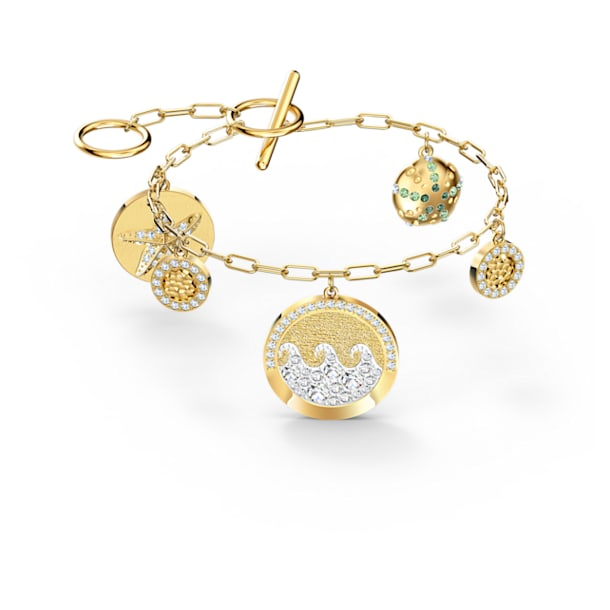 Bracelet Shine Coins, Multicolore, Métal doré - Swarovski, 5524188